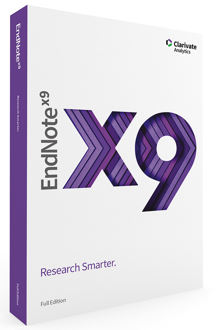 EndNote X9 for reference management and citations
